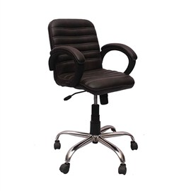 VJ Interior Visitor Chair Black 19 x 19 x 39 Inch VJ-137-VISITOR-MB