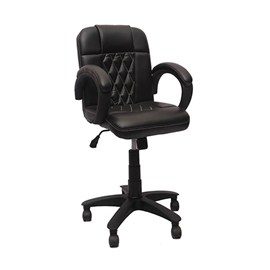 VJ Interior Visitor Chair Black 19 x 19 x 39 Inch VJ-141-VISITOR-LB