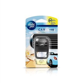 Ambi Pur Vanilla Car Air Freshener Starter Kit + Refill Promo 7.5 ml