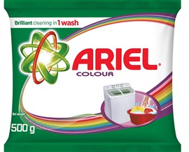 Ariel Colour Washing Detergent Powder 500g