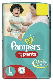 Pampers Large Size Diapers (4 Count)