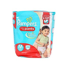 Pampers Medium Size Diaper- Economy Pack