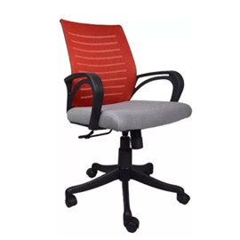 VJ Interior Granate Task Chair Grey Maroon 19 x 20 x 21 Inch VJ-0158