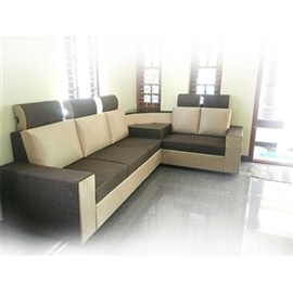 Indograce Corner Set Sofa (White / Grey)