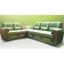 Indograce Corner set sofa (Green/ Brown)