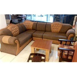 Indograce Corner Set Sofa (Brown)