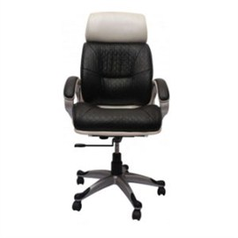 VJ Interior Executive Chair Black and White VJ-169-EXECUTIVE-HB
